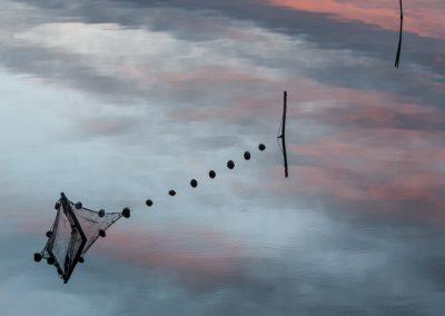 reflets  sur l'étang de Pérols