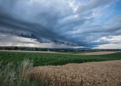 orage sur Lyon - 28 Juin 2017 - le ciel semblait se déchirer.