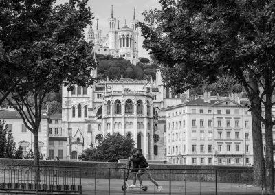 Lyon, Fourvière, Saint-Jean, trottinette